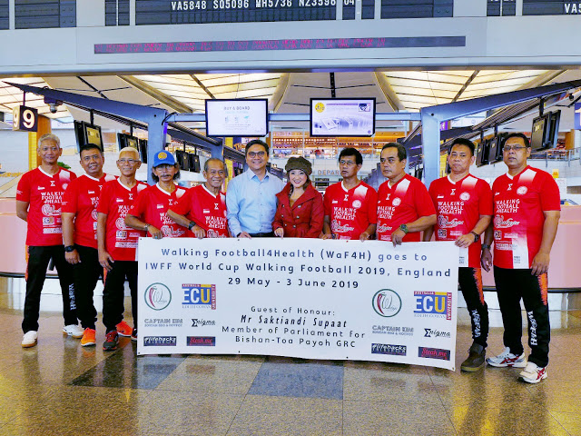 Walking Football4Health Team Singapore on the World Stage